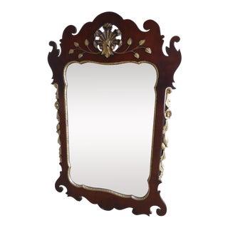 "Kindel Oxford Finish Mahogany Federal Style Pierced Frame Mirror 43""h X 27""w For Sale"