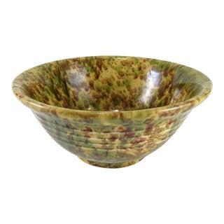 Antique Splatter Ware Serving Bowl For Sale