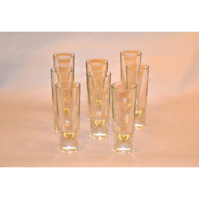 Set of 8 Carlo Moretti Modern Heavy Blown Glass Drinking Glasses Glassware Italy For Sale - Image 9 of 11