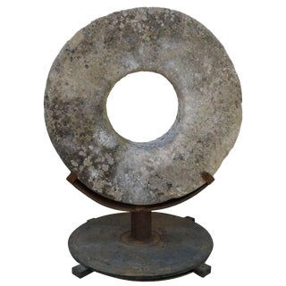 Stone Grinding Wheel Garden Art For Sale