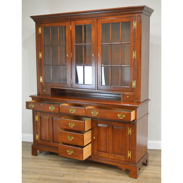 Councill Craftsman Cherry Pennsylvania Style Dutch Cupboard For Sale - Image 12 of 13