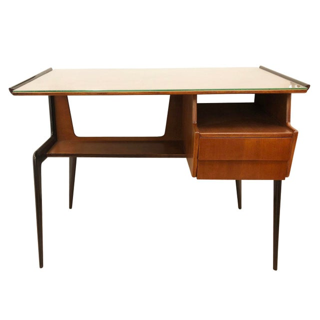 Italian Italian Mid-Century Desk in the Manner of Silvio Cavatorta For Sale - Image 3 of 8