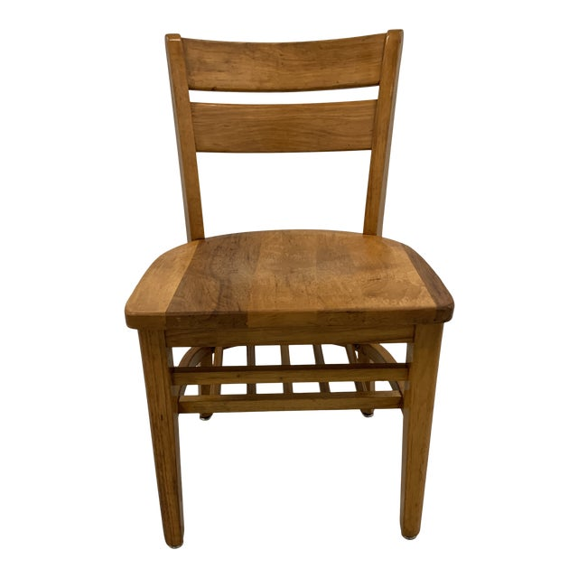 Vintage High Point Bending & Chair Co. Solid Oak School Chair For Sale