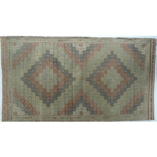 "Vintage Turkish Kilim Rug-5'1'x9'5"" For Sale"