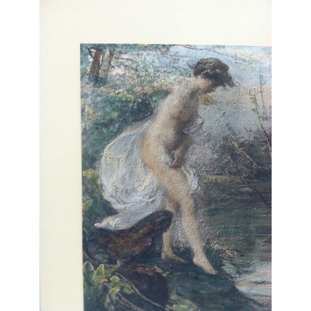 """Figurative Vintage Mid-Century """"Entering the Water"""" Mounted Color Print For Sale - Image 3 of 5"""