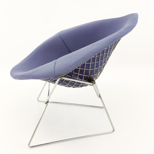 Vintage Mid-Century Harry Bertoia for Knoll Diamond Rocking Chair & Ottoman - 2 Pieces For Sale - Image 12 of 13