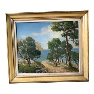 1962 French Seaside Oil Painting