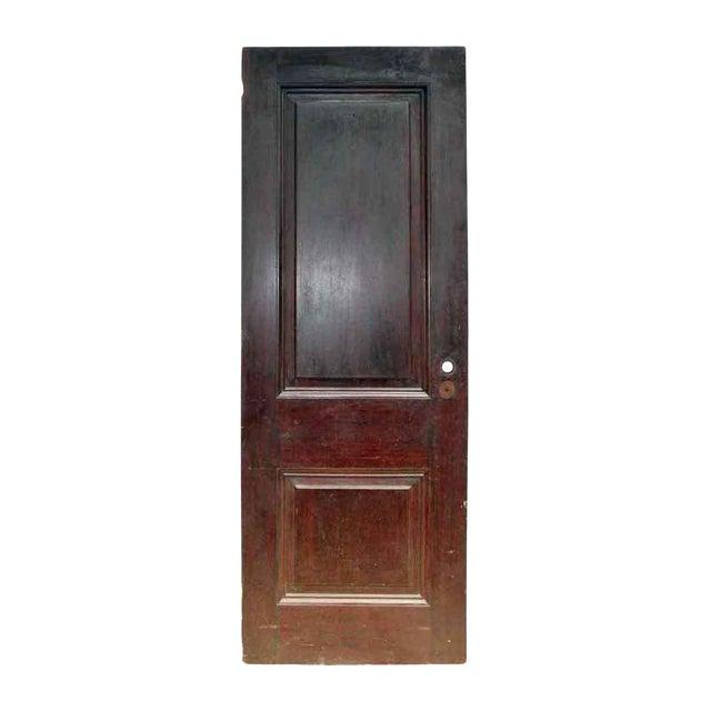 Antique Two Panel Wood Door - Image 1 of 5