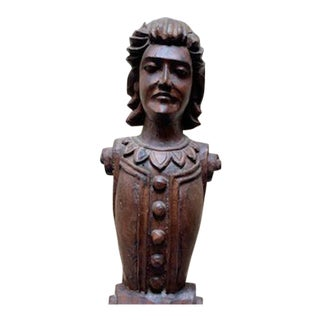 Wood Carved Statue For Sale