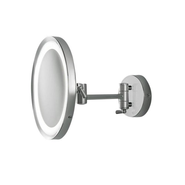 Contemporary Chrome Bathroom Mirror With Lighting IP44 For Sale - Image 3 of 3