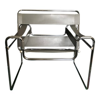 Vintage Marcel Breuer Grey Wassily Chair For Sale