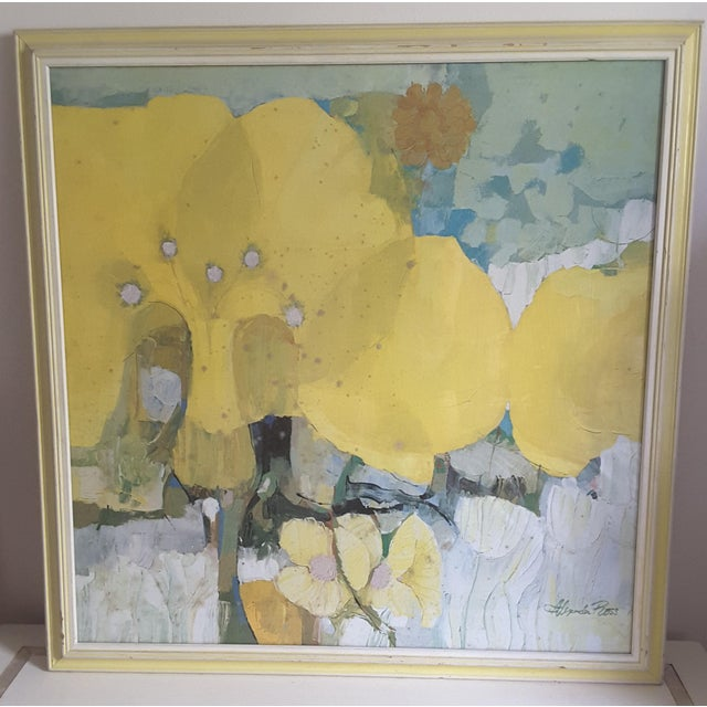 Mid-Century Modern Vintage Mid-Century Artwork Framed Print of Watercolor Painting Signed Alexander Ross For Sale - Image 3 of 13