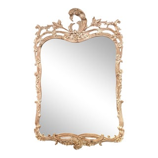 Rococo Style Carved Mirror For Sale