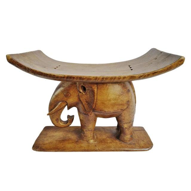 Brown Asante Ghana Elephant Stool For Sale - Image 8 of 8