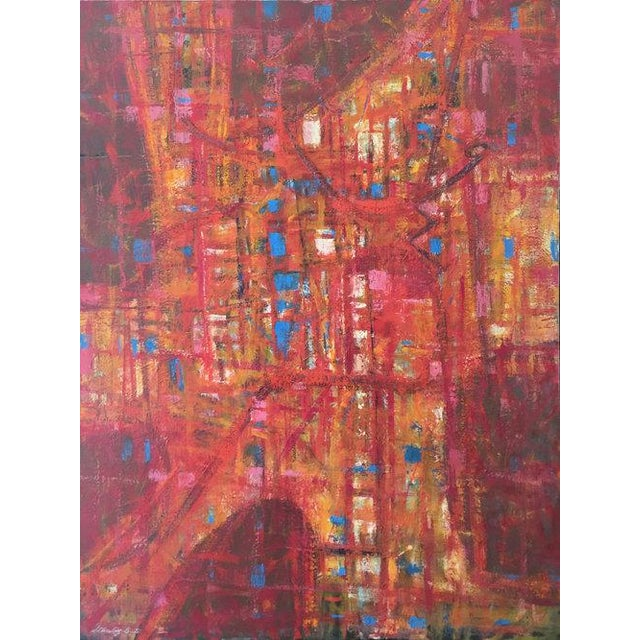 Canvas Stanley Bate, Roman Incident, Circa 1960 For Sale - Image 7 of 8