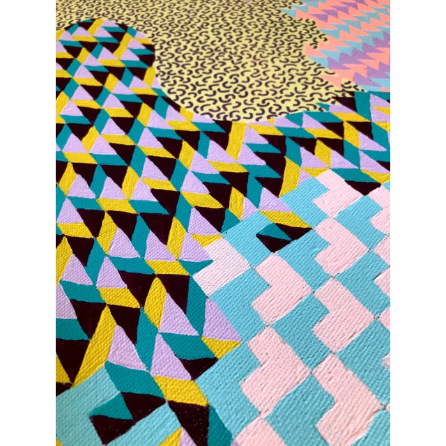 Contemporary Geometric Colorful Original Painting For Sale - Image 9 of 10
