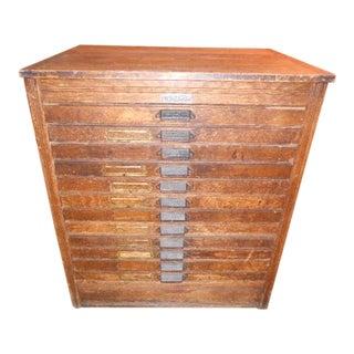 20th Century Americana Hamilton Printers Cabinet For Sale