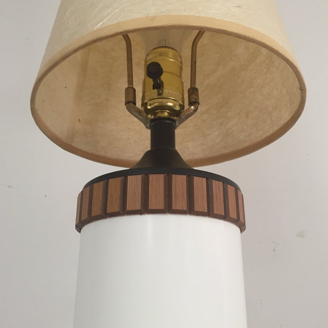 Mid-Century Cylinder Table Lamp - Image 5 of 10