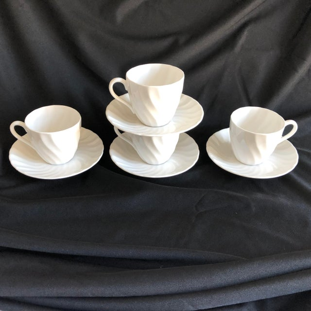 Vintage Royal Tuscan by Wedgwood Cocoa /Teacups & Saucers S/4 For Sale In New York - Image 6 of 7