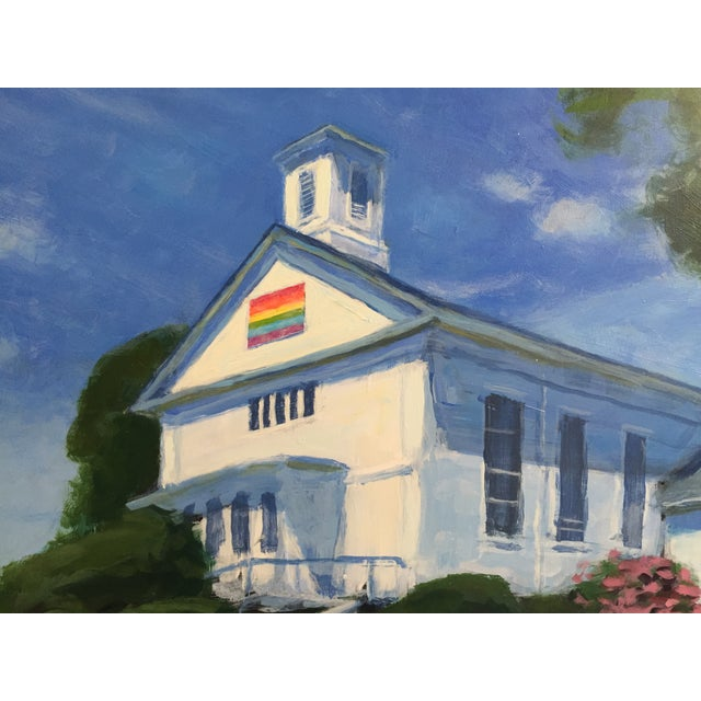 Original Painting of a New England Church - Image 4 of 5