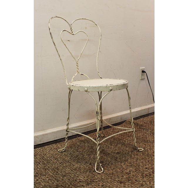 Vintage Ice Cream Heart-Back Wire Side Chair - Image 2 of 11