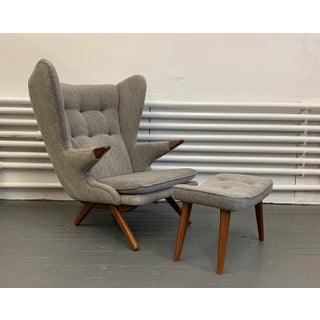 Mid Century Modern Papa Bear Styled Lounge Chair, Heather Gray Preview