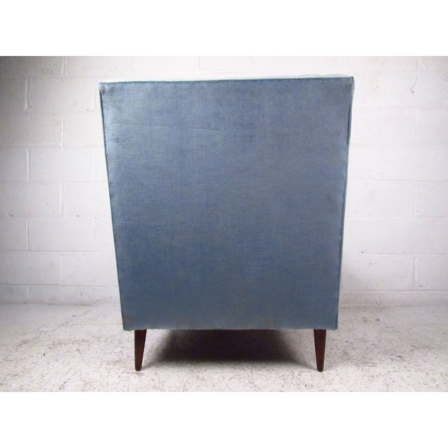 Textile Mid-Century Modern Paul McCobb Style Lounge Chair For Sale - Image 7 of 9