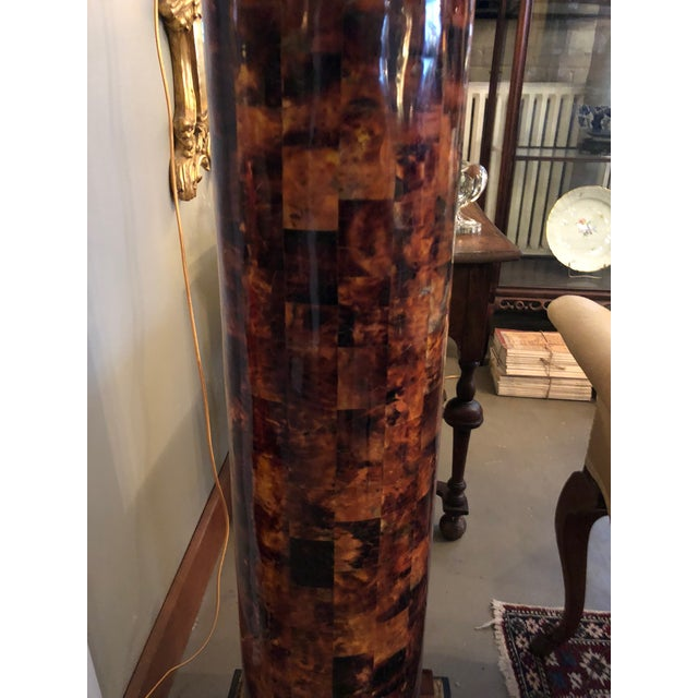 1900s Louis XV Gilt Corinthian and Verified Tortoise Shell Pedestals - a Pair For Sale - Image 10 of 11