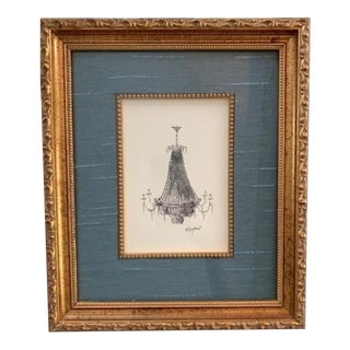 Elle Yount French Chandelier #1 Original Drawing For Sale