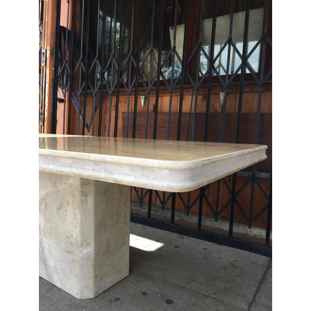 1960s 1960s Italian Travertine Dining Table For Sale - Image 5 of 13