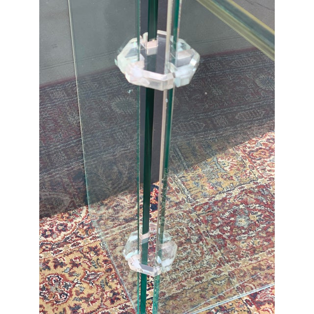 Mid-Century Modern Lucite and Glass Dining Set - 7 Pieces For Sale - Image 3 of 10