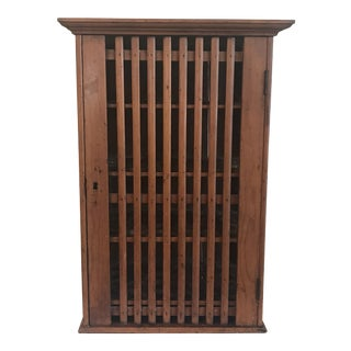 1930s French Walnut Egg Wall Cabinet For Sale