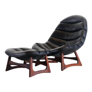 Scoop Lounge Chair and Ottoman by Adrian Pearsall for Craft Associates USA For Sale