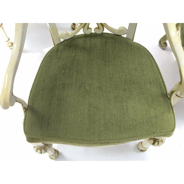 Dorothy Draper Kessler Cast Aluminum Patio Dining Chairs - Set of 5 - Image 6 of 8