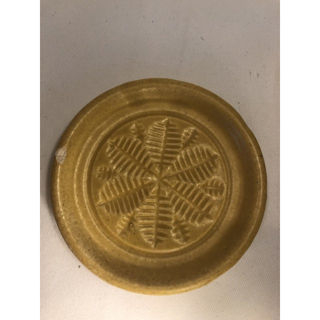 Mid 20th Century Pigeon Forge Pottery Yellow Coasters-Ashtrays Old Buttermold - Set of 4 For Sale - Image 5 of 13
