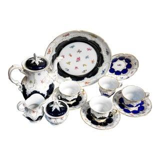 Antique Meissen Cobalt Blue Tea Set For Sale