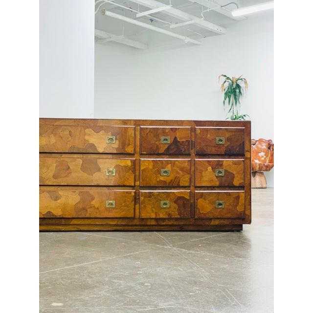 """Mid-Century Modern 1960s American of Martinsville """"Mosaics"""" Campaign Style Dresser For Sale - Image 3 of 10"""