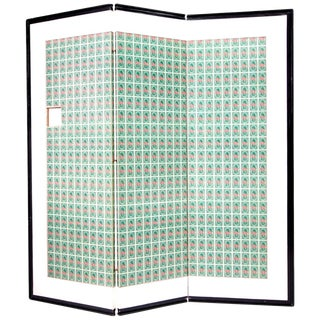 Andy Warhol S&h Green Stamps Folding Screen