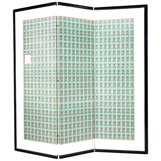 Andy Warhol S&h Green Stamps Folding Screen For Sale