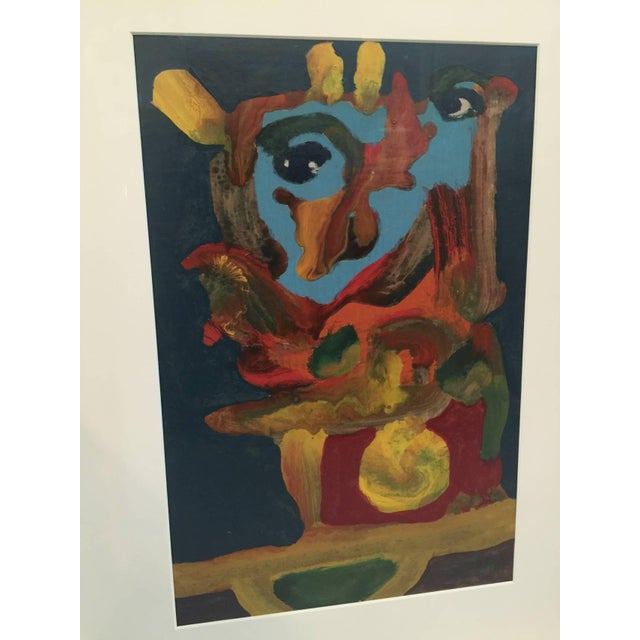 1970s Original Abstract Oil on Board Signed A. Castor, 'Spain' For Sale - Image 5 of 6
