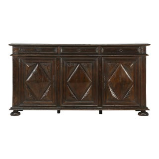 Antique French Louis XIII Three-Door Oak Buffet