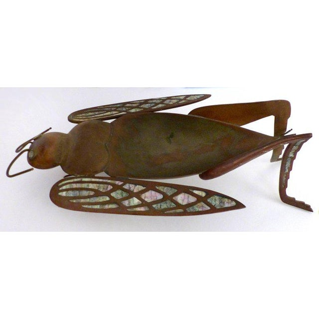 Los Castillo Brass, Copper and Abalone Dish attributed to Salvador Teran For Sale - Image 9 of 10