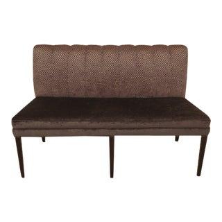 Michael Weiss Modern Design Armless Settee Loveseat For Sale