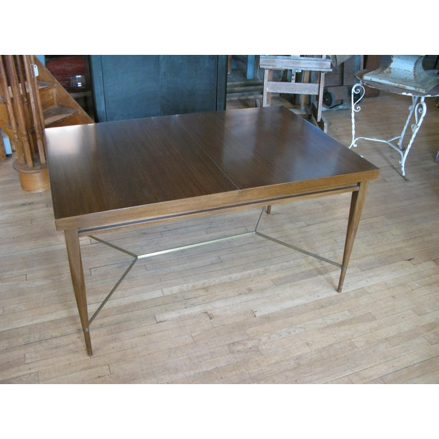 1950s Mahogany & Brass Extension Dining Table by Paul McCobb For Sale In New York - Image 6 of 9