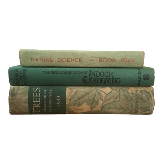 Vintage Decorative Botanical Books - Set of 3 For Sale