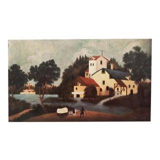 """1951 Henri Rousseau, Original """"Paysage Avec Moulin a Eau"""" Parisian Lithograph For Sale"""