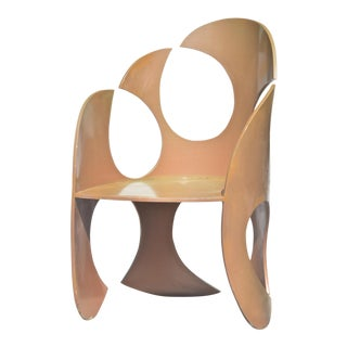 Sculptural Modern Metal Chair by Alan Siegel For Sale
