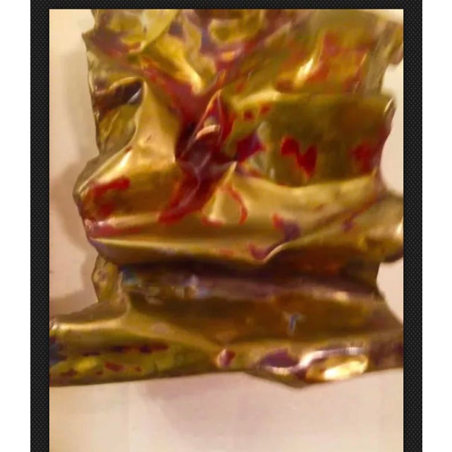 Red Silas Seandel Sculpture Convoluted Wall Piece For Sale - Image 8 of 12