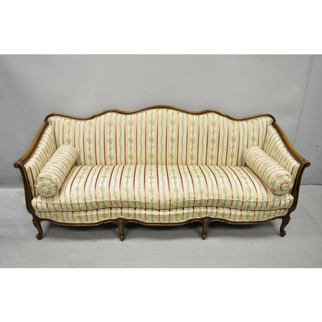Early 20th C. Vintage French Louis XV Provincial Style Sofa For Sale - Image 12 of 12