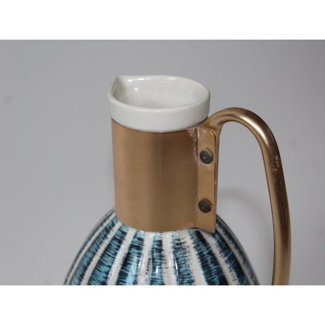 1957 Vintage C Miller Mid Century Ceramic Warming Carafe Decanter - Image 6 of 10